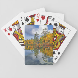 Autumn pond reflections, Maine Playing Cards