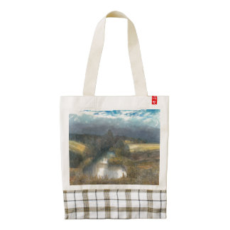 autumn pond zazzle HEART tote bag