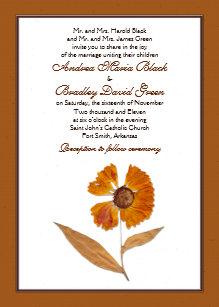 Pressed Flower Invitations Zazzle