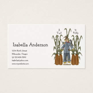 Autumn Primsies · A Time to Reap Business Card