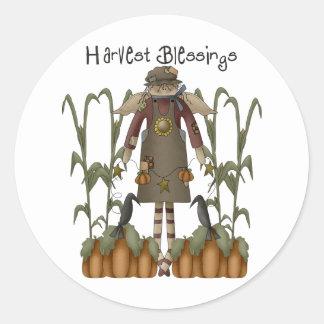 Autumn Primsies · Harvest Blessings Round Stickers