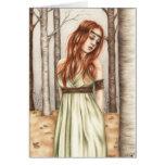 Autumn Princess Greeting Card