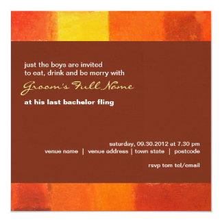 """Autumn pueblo Bachelor Party Invitation 5.25"""" Square Invitation Card"""