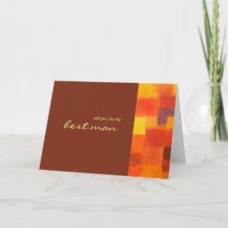 Autumn pueblo Be My Best Man Card zazzle_card