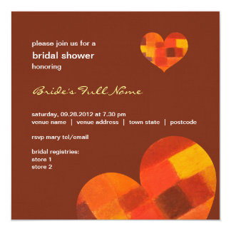 "Autumn pueblo Bridal Shower Invitation 5.25"" Square Invitation Card"