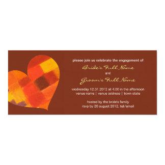 """Autumn pueblo Engagement Invitation 4"""" X 9.25"""" Invitation Card"""