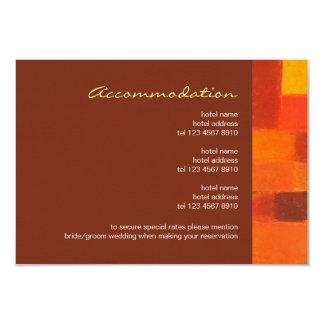 "Autumn pueblo Wedding Enclosure Card 3.5"" X 5"" Invitation Card"