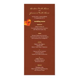 "Autumn pueblo Wedding Menu 4"" X 9.25"" Invitation Card"