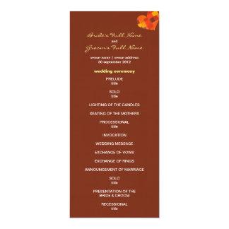 "Autumn pueblo Wedding Program 4"" X 9.25"" Invitation Card"