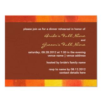 "Autumn pueblo Wedding Rehearsal Dinner Invitation 4.25"" X 5.5"" Invitation Card"