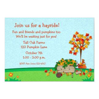 Autumn Pumpkin Cart Card