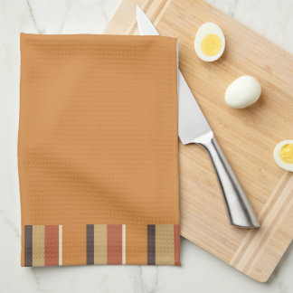 Autumn Pumpkin Color and Striped Pumpkin Spice Kitchen Towel