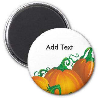 Autumn Pumpkin Customizable Magnet