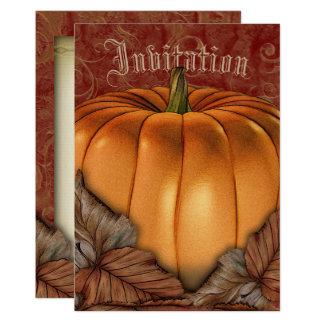 Autumn Pumpkin Halloween or Fall Party Invitation