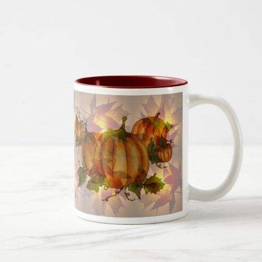 AUTUMN PUMPKIN LEAVES by SHARON SHARPE Mug