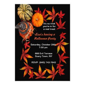Autumn Pumpkin Party Invitations
