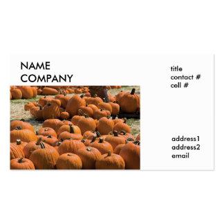 autumn pumpkin patch business card