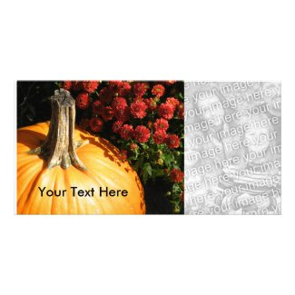 Autumn Pumpkin Photo Cards photocard