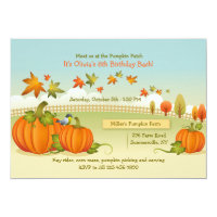 Autumn Pumpkin Picking Invitation