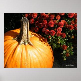 Autumn Pumpkin Poster print