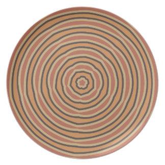Autumn Pumpkin Spice Circles Dinner Plate