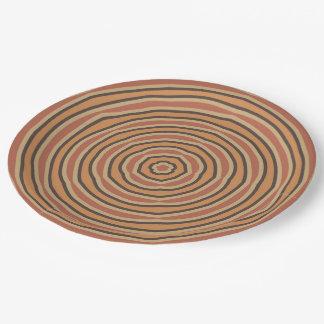 Autumn Pumpkin Spice Circles Paper Plate