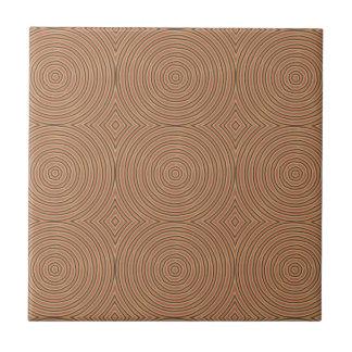Autumn Pumpkin Spice Circles Ceramic Tile