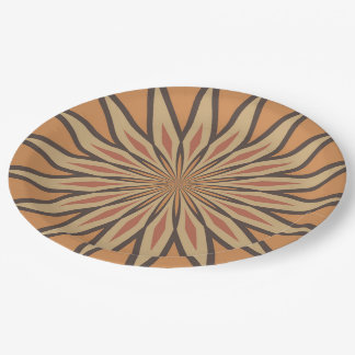 Autumn Pumpkin Spice Colors Star Paper Plate