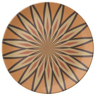 Autumn Pumpkin Spice Colors Star Porcelain Plate