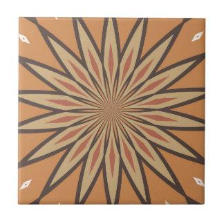 Autumn Pumpkin Spice Colors Star Ceramic Tile