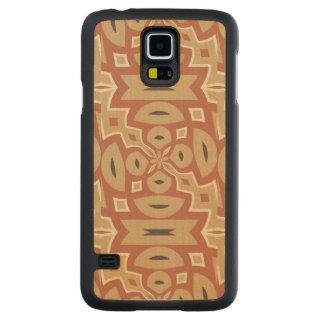Autumn Pumpkin Spice Design Carved Maple Galaxy S5 Slim Case