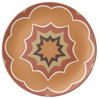 Autumn Pumpkin Spice Kaleidoscope Plate