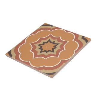 Autumn Pumpkin Spice Kaleidoscope Ceramic Tiles