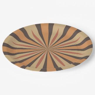 Autumn Pumpkin Spice Star Design Paper Plate