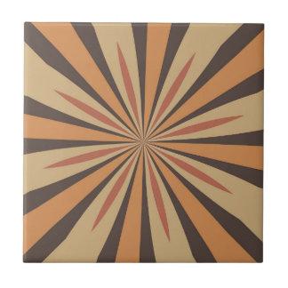 Autumn Pumpkin Spice Star Design Ceramic Tiles