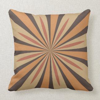 Autumn Pumpkin Spice Star Design with Dark Brown Throw Pillow