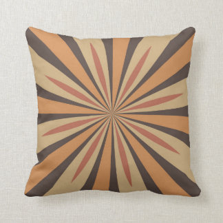 Autumn Pumpkin Spice Star Design with Nutmeg Throw Pillow