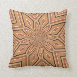 Autumn Pumpkin Spice Star Flower Throw Pillow