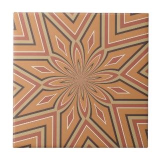 Autumn Pumpkin Spice Star Flower Ceramic Tile