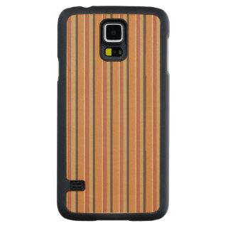 Autumn Pumpkin Spice Stripes Carved Maple Galaxy S5 Slim Case