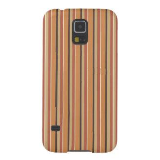 Autumn Pumpkin Spice Stripes Case For Galaxy S5