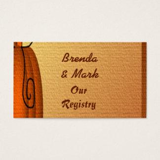 Autumn Pumpkin Textured Wedding Registry Card