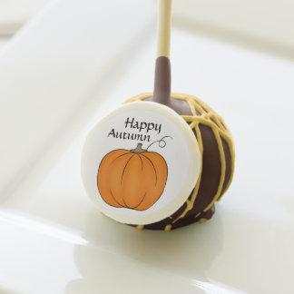 Autumn pumpkin Thanksgiving Fall dessert Cake Pops