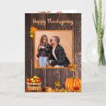 Autumn Pumpkin Thanksgiving Photo Holiday Card