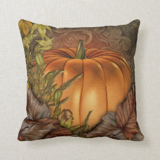 Autumn Pumpkin Throw Pillow