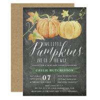 Autumn Pumpkin   Twins Baby Shower Invitation