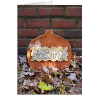 Autumn Pumpkin without Border Card