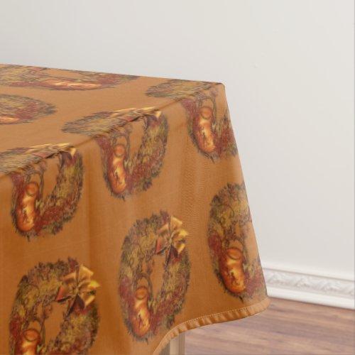Autumn Pumpkin Wreath Thanksgiving Tablecloth