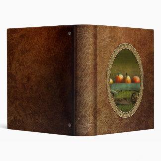 Autumn - Pumpkins - Free ride Vinyl Binder