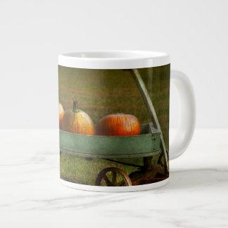 Autumn - Pumpkins - Free ride Large Coffee Mug